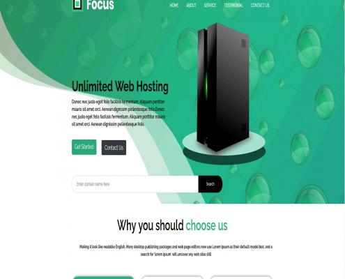 قالب HTML FOCUS
